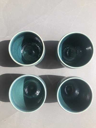 keramieken chai latte/ thee mok van Tessie Schenk keramiste/pottenbakster